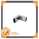 Grampo de vidro da tubulação da porta do banheiro, conetor inoxidável da tubulação de aço