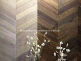 Мелиорированных дубовый паркет Chevron деревянные полы