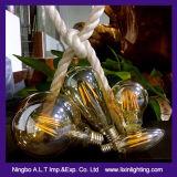E27 St64 lâmpada de filamento de LED com Potência 2W, 4W, 6W, 8W