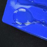 Blaues Tafelgeschirr-Blasen-Tellersegment