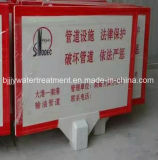 Scheda a fibra rinforzata del segnale di pericolo della plastica FRP SMC