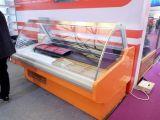 Sanye a courbé le réfrigérateur d'étalage de viande utilisé par porte en verre