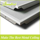 Placa de teto acústico de alumínio revestida de película