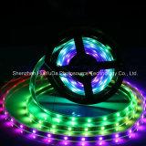 RGB IP67フルカラーSMD5050チップ60LEDs 18W DC12V LEDストリップ