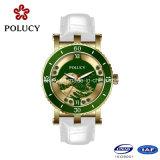China de fábrica del cuero genuino de la marca del reloj de señora relojes de cuarzo