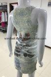 Платье женщин сексуальное с одеждой комкает и печатает