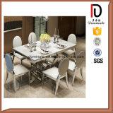 Presidenza vivente dell'acciaio inossidabile della mobilia della sala da pranzo di ovale della parte posteriore di cerimonia nuziale della Rosa del ristorante dorato moderno dell'hotel