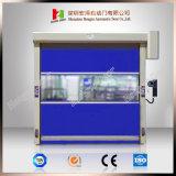 Tecido de PVC Industrial Automática Rápida Porta Corrediça de PVC do Rolo Superior