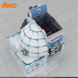 Papppapierausstellungsstand-Fußboden-Papier-Bildschirmanzeige-Ladeplatte