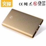 La Banca portatile di potere del telefono mobile di capacità elevata D60 e doppia uscita 6000mAh
