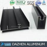 Profil personnalisé d'extrusion de porte de guichet en aluminium pour le marché différent
