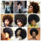 extensions bouclées crépues de cheveux humains de cheveu de Vierge de la Vierge 8A d'Afro bouclé crépu indien de cheveu