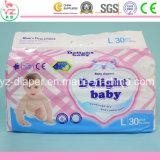熱い販売法の極度の柔らかく使い捨て可能な卸し売りCoucheの歓喜の赤ん坊のおむつ