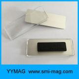Plástico de neodímio acrílico Badge Holder Nametag ímãs para venda