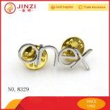 Kundenspezifische Sicherheits-Zink-Legierungs-Metall-Revers-Pin-Abzeichen mit Schmetterlings-Wölbung