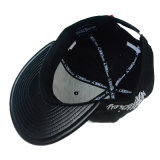 Promoción personalizada de la tapa de cuero de PU bordado en 3D Deporte Hip Hop Hat Snapback Tapa plana de Proyecto de Ley de la moda