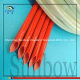 Sleeving trançado da isolação da fibra de vidro do UL de Sunbow