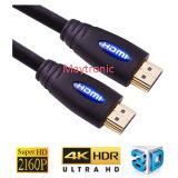 이더네트 1.4V를 가진 금에 의하여 도금되는 HDMI 케이블