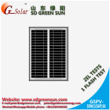 el panel solar polivinílico 30W para la luz solar del LED