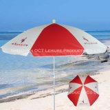 Guarda-sol de praia personalizado / guarda-chuva exterior com proteção UV à prova de vento