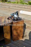 Novo Design Exterior mesa de chá de tecelagem de Corda