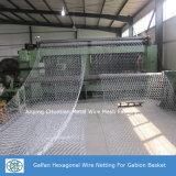 Glavanized com engranzamento de fio revestido da cesta do PVC Gabion