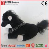 Brinquedo de cavalos de pelúcia de pelúcia realista e macio real