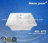 美しい形の磁器手の洗面器(072)
