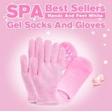 Cuidado de los Pies El cuidado de manos de los dedos Gel Hidratante piel belleza spa Gel guantes con diferentes colores, la mano máscara, la máscara de pie