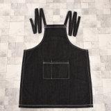 黒いカラーデニムファブリック昇進の庭の胸当てのエプロン(RS-170407)