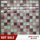 Estilo romântico China Azulejos de mosaico de cristal rosa