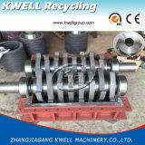 Desfibradora de acero del eje de Doubel del metal/amoladora plástica automática de la basura/granulador de goma