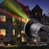 Luz solar al aire libre de luz láser de iluminación para patio de jardín Decoración comercial de vacaciones de Navidad Lámparas impermeables Spotlight Star Projector