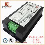 Medidor de Digitas da energia da potência do amperímetro da tensão da C.C. 6.5-100V 50A/100A 4in1 LCD