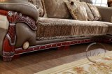 Tessuto genuino europeo L sofà sezionale di Moden di figura per la casa