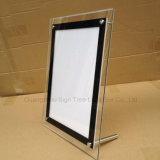 Rectángulo ligero de acrílico delgado publicitario transparente del cristal LED
