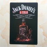 Design de Jack Daniel's 20*30 cm assinar & Placa de metal e a folha de flandres