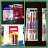 Машина запечатывания Papercard бритвы/батареи/зубной щетки/игрушки с упаковкой волдыря PVC
