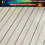 Tela de la guarnición de la funda del juego de los hombres, tela tejida raya teñida de los hilados de polyester (S83.85)