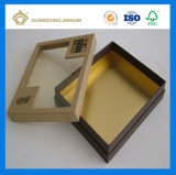 Caja de embalaje del regalo de papel de la alta calidad para la ropa (con la ventana clara del PVC)