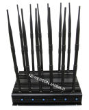 WiFi 5.2g 5.8g Handy-Telefon 2g 3G 4G GPS Schreibtisch-Hemmer/Blocker/Isolierscheibe VHF-UHFLojack HF-315/433/868MHz