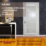 Porta interior de madeira do quarto com painéis de vidro (GSP3-046)