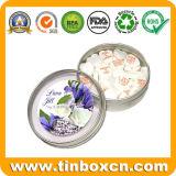 Contenitore Mint rotondo di stagno, barattolo di latta della caramella, stagno della confetteria con la cerniera, cassa dello stagno del metallo per l'imballaggio per alimenti