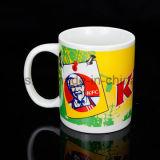 Tazza di ceramica con il marchio, tazza del gres, tazza della porcellana con la stampa