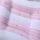 OEM 면 분홍색 줄무늬 연약한 가정 베개