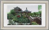 고대 정원의 아름다운 건축 예술 색칠