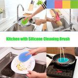 クリーニングのフルーツのための多目的シリコーンの洗浄ブラシの野菜洗濯機