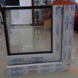 Binnenkomend het Openen van de Gordijnstof van het Venster UPVC Openslaand raam met de Vaste Hardware van Delen