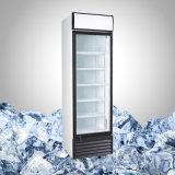 Refrigerador de una sola puerta de vidrio para cerveza y bebidas
