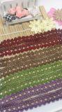 Cordón de nylon del ajuste del guipur del nuevo del diseño de la venta al por mayor de la fábrica de las existencias los 2.5cm de la anchura del bordado cordón del poliester para la ropa y materias textiles y cortinas caseras